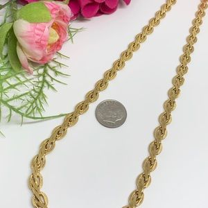 """Vintage Jewelry - ⚜️VINTAGE Gold-Tone Knot Chain - 19"""""""